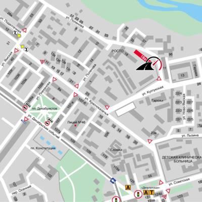 ИЦВВМ на карте города Иркутска